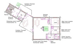 Lay out Oravi villa 1st floor